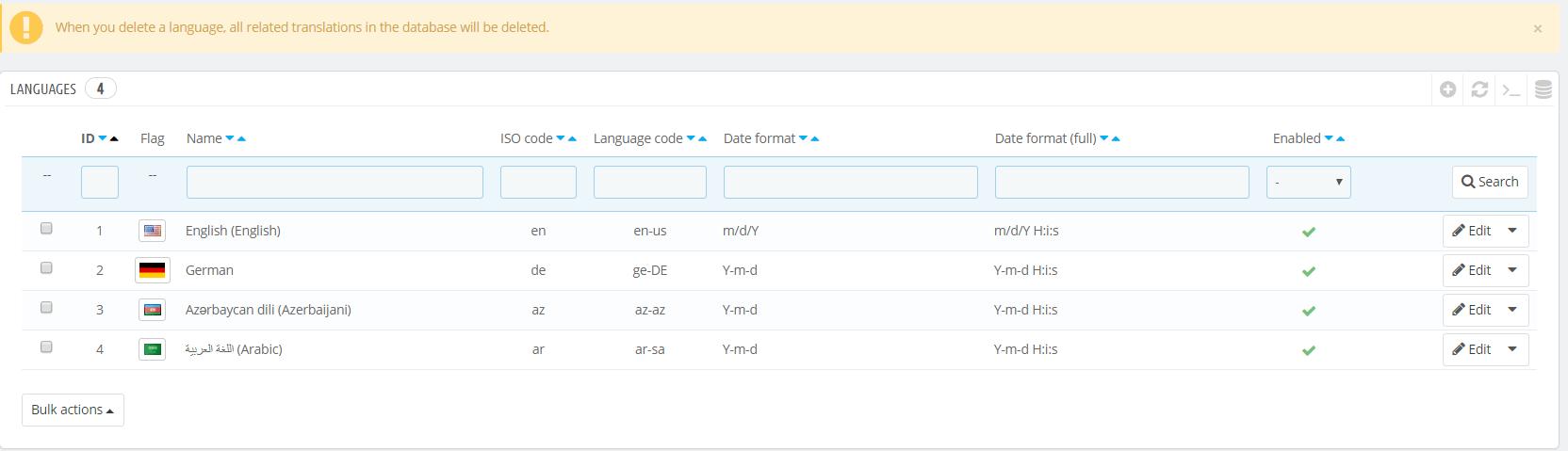 add update a language 4 new
