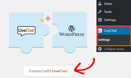 connect with livechat netking
