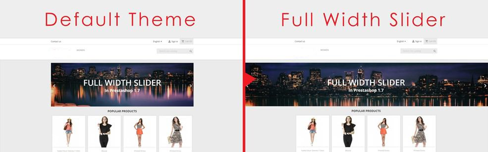 create a full slider in Prestashop 1