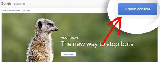 visit google recaptcha website netking