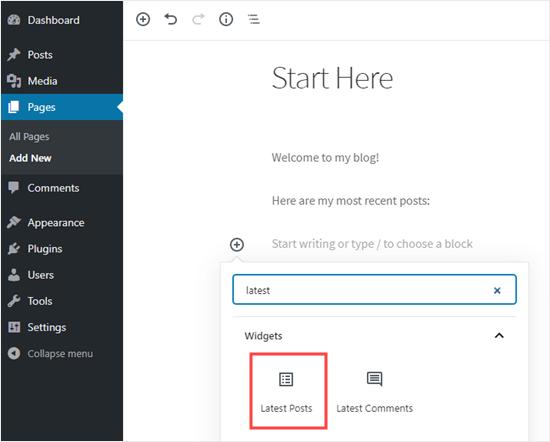 add latest posts block. netkingpng