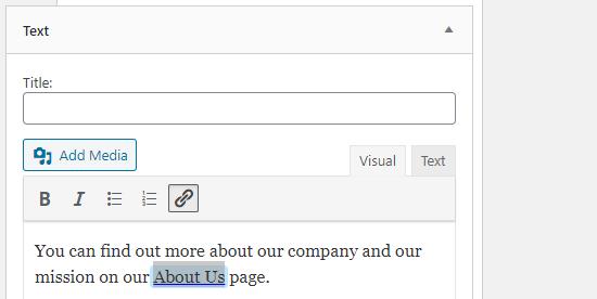 add link in widget netking