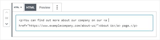 html view of block netking