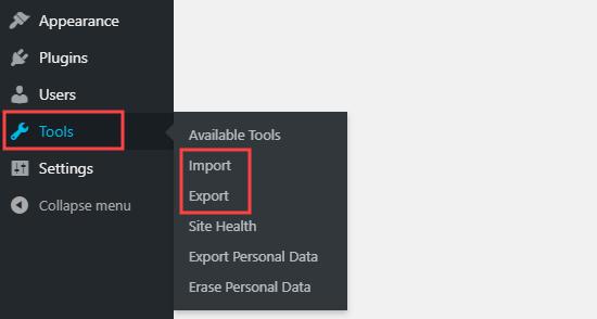 tools import export netking