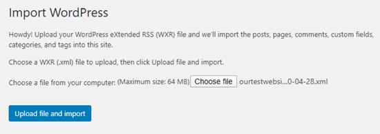 upload and import menu file netking